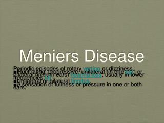 Meniers Disease