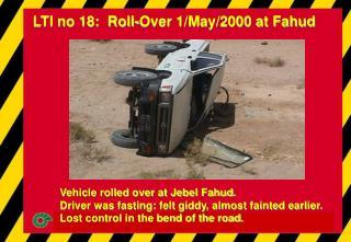 LTI no 18:  Roll-Over 1/May/2000 at Fahud