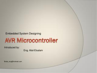 AVR  Microcontroller