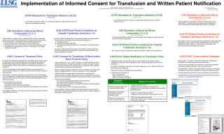 Implementation of Informed Consent for Transfusion and Written Patient Notification