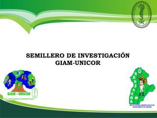 SEMILLERO DE INVESTIGACIÓN GIAM-UNICOR