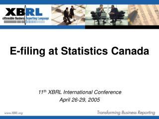 E-filing at Statistics Canada