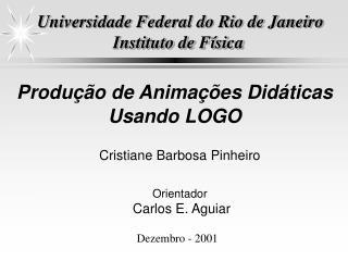 Universidade Federal do Rio de Janeiro Instituto de Física