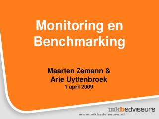 Monitoring en Benchmarking