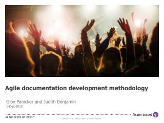 Agile documentation development methodology