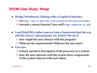 DOOM Case Study: Wedgi