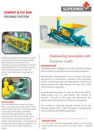 CEMENT & FLY ASH FEEDING SYSTEM
