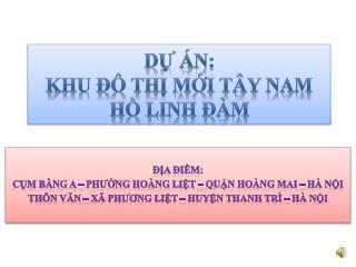 D? �n:  Khu ?� th? m?i T�y Nam H? Linh ?�m