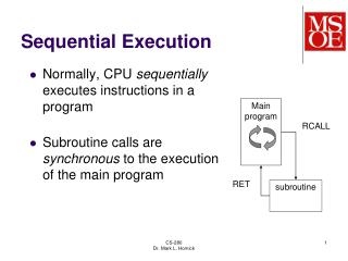 Sequential Execution