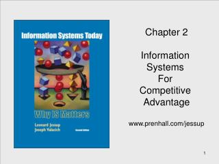 Chapter 2 Information  Systems  For  Competitive  Advantage prenhall/jessup