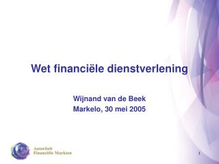 Wet financiële dienstverlening
