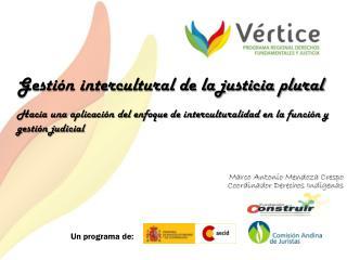 Marco Antonio Mendoza Crespo Coordinador Derechos Indígenas