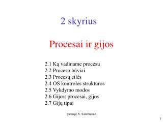 Procesai ir gijos