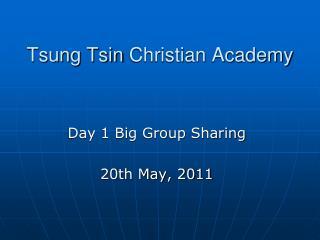 Tsung Tsin  Christian Academy