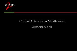 Current Activities in Middleware