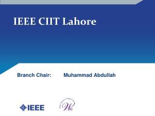 IEEE CIIT Lahore