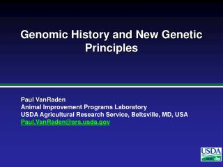 Genomic History and New Genetic Principles