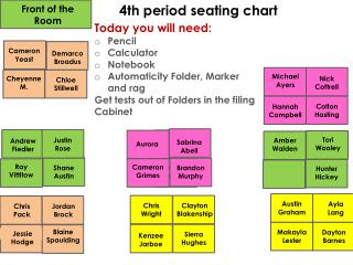 4th period seating chart