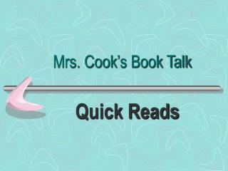 Mrs. Cook's Book Talk