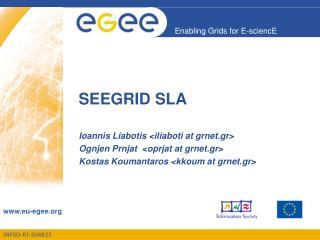 SEEGRID SLA