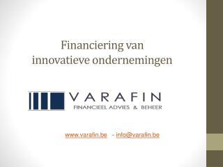 Financiering van  innovatieve ondernemingen