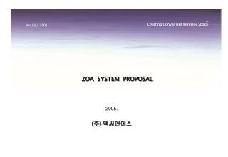 ZOA  SYSTEM  PROPOSAL