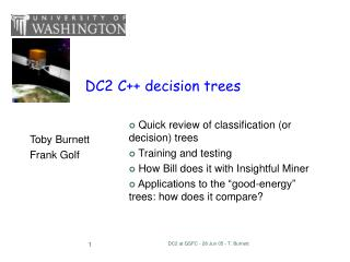 DC2 C++ decision trees