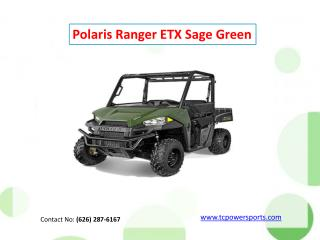 Polaris Ranger ETX Sage Green
