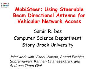 MobiSteer: Using Steerable Beam Directional Antenna for  Vehicular Network Access