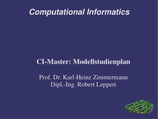 Computational Informatics