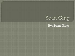 Sean  Ging