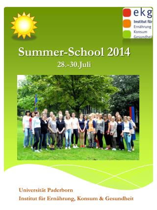 Summer-School 2014 28.-30.Juli