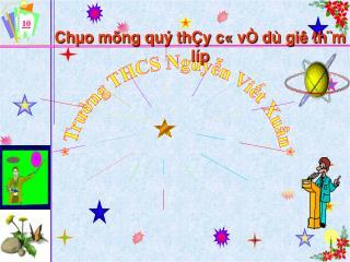 * Trường THCS Nguyễn Viết Xuân*