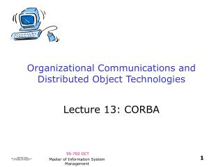 Organizational Communications and Distributed Object Technologies