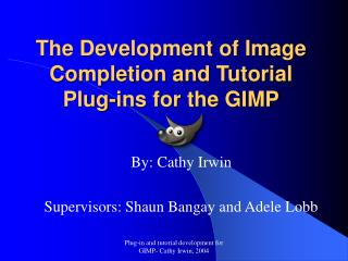 The Development of Image Completion and Tutorial  Plug-ins for the GIMP