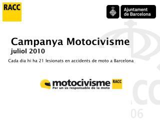Cada dia hi ha 21 lesionats en accidents de moto a Barcelona