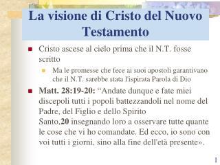 La visione di Cristo del Nuovo Testamento