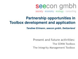 Partnership opportunities in  Toolbox development and application