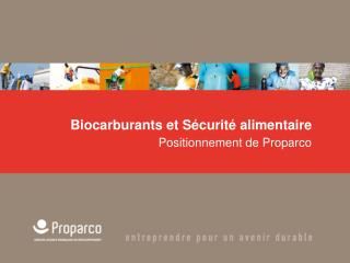 Biocarburants et Sécurité alimentaire