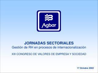 JORNADAS SECTORIALES Gestión de RH en procesos de internacionalización