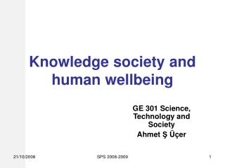 Knowledge society and human wellbeing