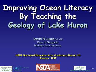 Improving Ocean Literacy  By Teaching the  Geology of Lake Huron