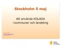 Stockholm 5 maj