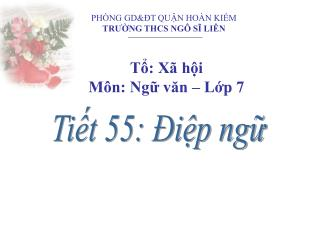 PHÒNG GD&ĐT QUẬN HOÀN KIẾM TRƯỜNG THCS NGÔ SĨ LIÊN
