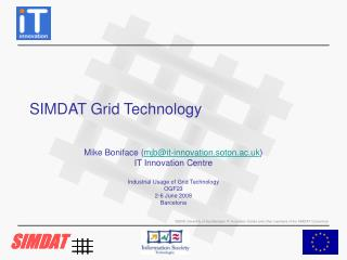 SIMDAT Grid Technology