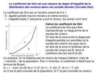 Le coefficient de Gini est un nombre variant de 0 à 1,