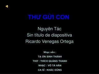THƯ GỬI CON