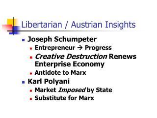 Libertarian / Austrian Insights