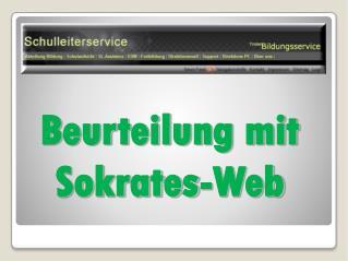 Beurteilung mit Sokrates-Web