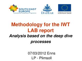 Methodology for the IWT LAB report Analysis based on the deep dive processes